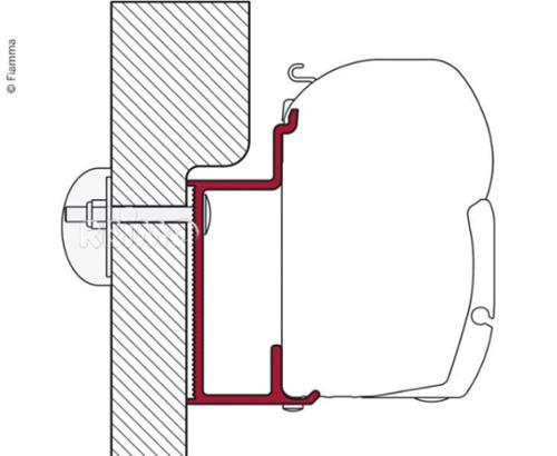 Riel adaptador Fiamma para Euro & Karman - Adaptador F45 Eura Mobile