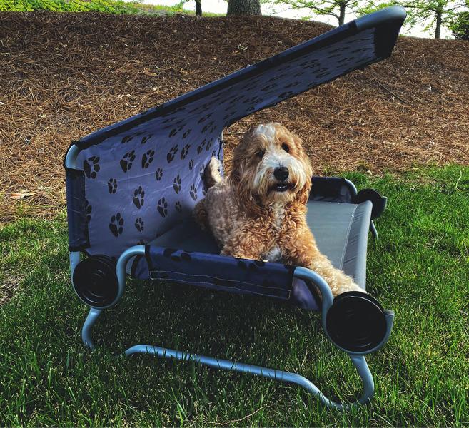 Hundebett DOG-BED Small, mit Dach,bis 91kg belastbar, Packmaß 84x43x10