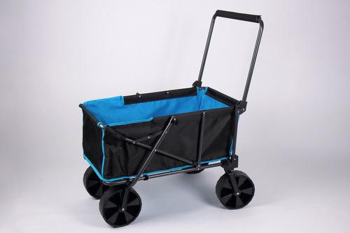 Strandbuggy mit breiten abnehmbaren Reifen u. Packtasche