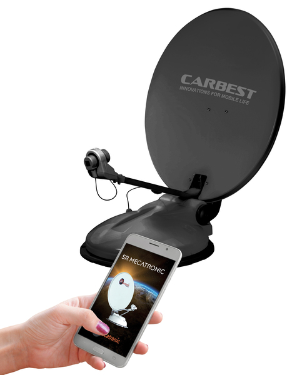 Carbest Travelsat 2 - Single Sat-Anlage Anthrazit mit Bluetooth (68 cm)