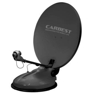 System satelitarny Travelsat 2, 68 cm z Bluetooth, ciemnoszary