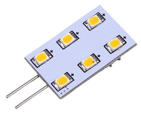 LED G4 Leuchtmittel, 1,2W, 90 Lumen, 6x warmweiße SMD