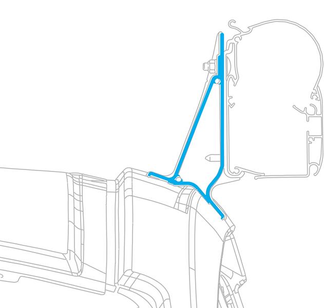 PW1100 2,6m Kit Ford Transit Custom, Gehäuse:anthr., Tuch:Horizon Grey