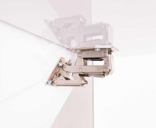 Soft Close folding hinge for flaps up to 2.1kg, loose