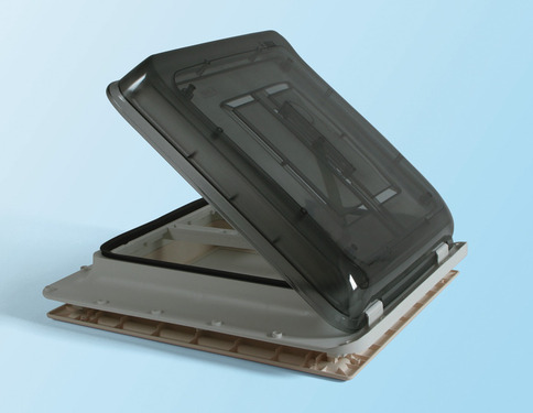 Fiamma Skylight with crank handle - Vent 40x40 cm, Colour: crystal