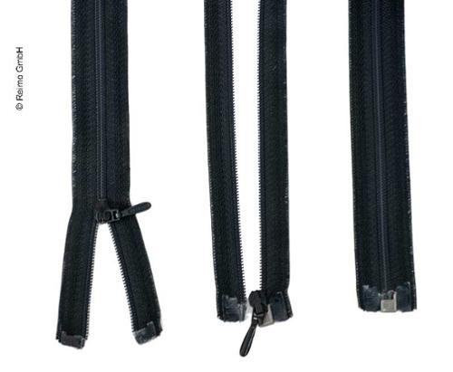Reißverschluss 100cm, teilbar - aushakbar in schwarz, Kunststoff