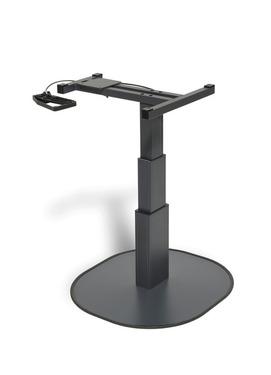 Single Column Lifting Table CATCH antracit, H: 337-700mm, drejelig montering