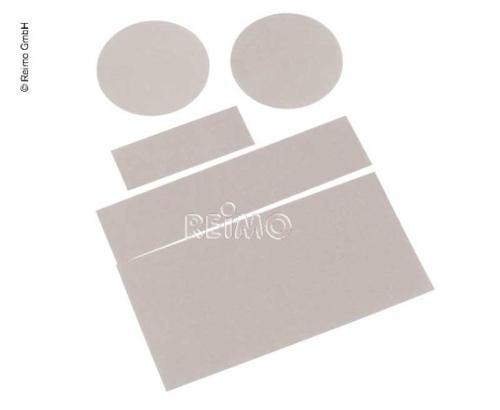 5 selvklæbende polyamidplaster til hurtig teltreparation, forskellige størrelser