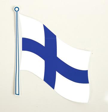 Flag klistermærke Finland 2 pakke, 145 x 125 mm