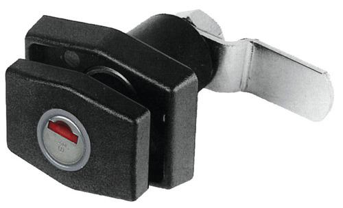 PushLock rectangulaire noir sans cylindre + clé