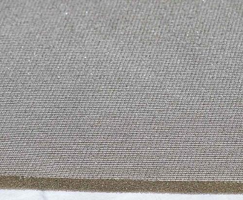Schaumstoff kaschiert 8mm in beige/grau