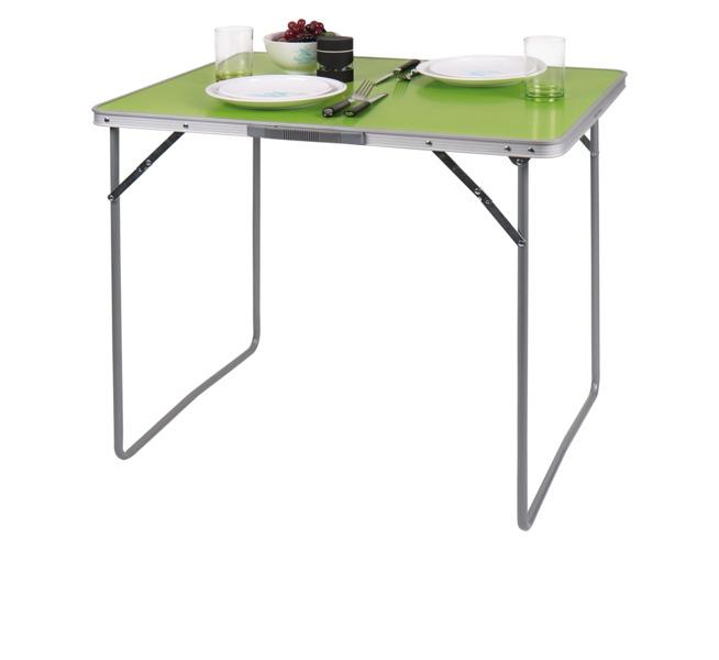 Campingtisch TWIGGY lime 80x69x60cm, MDF-Tischplatte