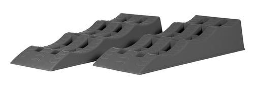 Cale de marche XL / rampes multi-niveaux 2 pcs. gris