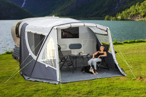 Inflatable awning for Adria Action 361
