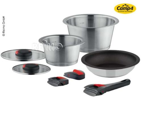 Camping Potfset Quick Clack Pro, 8-piece complete set for cooking and roasting