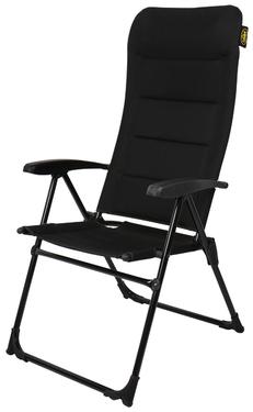 Krzesło kempingowe MALAGA MESH, Camp4, regulowane w 4 kierunkach, czarne, siatka 3D
