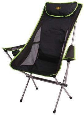 Folding Camping Chair, SANTA FE Camp5, black/lime