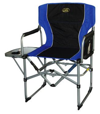 Sammenfoldelig stol Direktørstol Paloma, sort / blå, med bord