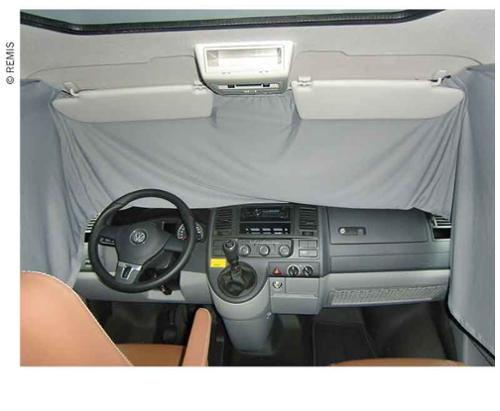 curtain cab grey opaque Mercedes Vito/Metris