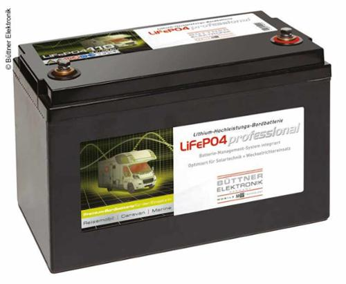 LiFePo4 Batterie, Bordbatterie mit Lithium Technologie 12V 110Ah