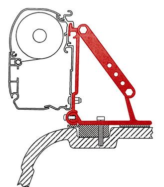Fiamma Adapter für F45 an VW T5 mit Flachdach