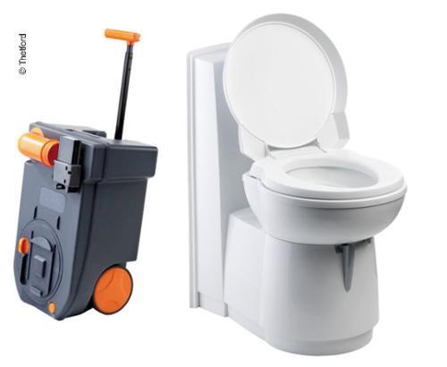 Cassettentoilette C262-CWE, Spülung elektrisch, WC-becken Keramik, weiß