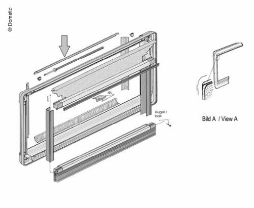Ventilation profile inner frame S5