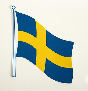 Flag klistermærke Sverige 2 stk., 145 x 125 mm