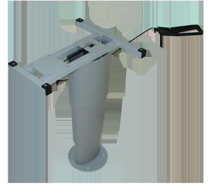 Einsäulen-Hubtisch Primero Comfort, 325-685mm, silbergrau