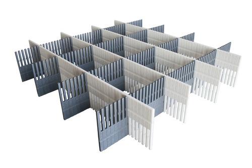 Purvario Stauleisten 8er-Pack, für Schubladen und Kühlschränke (hellgrau/anthrazit)