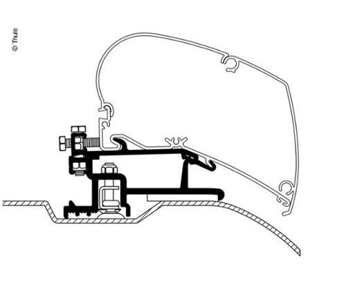Adapter voor Omnistor 6002/6900, vlakke versie, Ducato