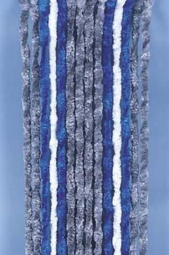 rideau polaire 56x205 gris/bleu/blanc pour camping-cars et caravanes