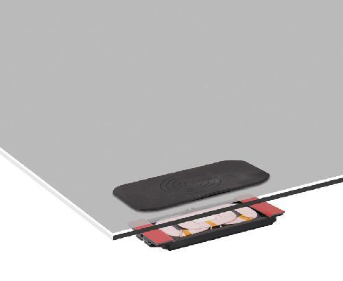 Inductieve oplaadeenheid zwart met antisliplaag en LWL-kit