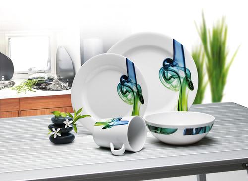 Melamine Tableware, Set LUCCA Camp4, For 4 People/16 Parts