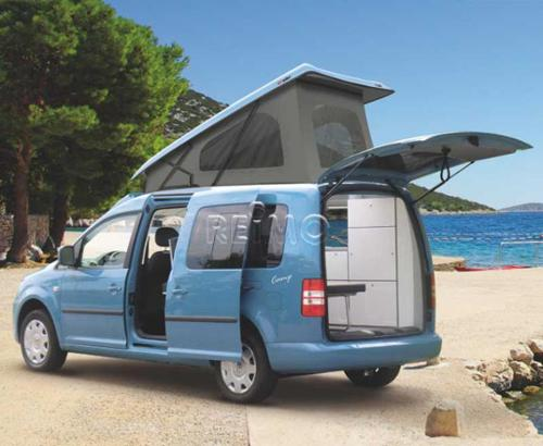 Caddy pop-up dak VW-Caddy Maxi met lange wielbasis achteraanzicht