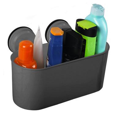 Aufbewahrungsbox mit 2 Saugnäpfen bis 6kg, anthrazit
