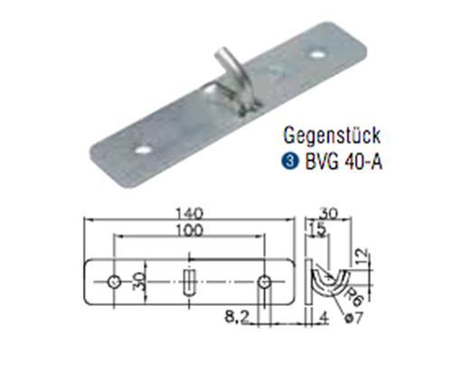 Winterhoff Gegenstück Bordwandverschluss BVG 40-A