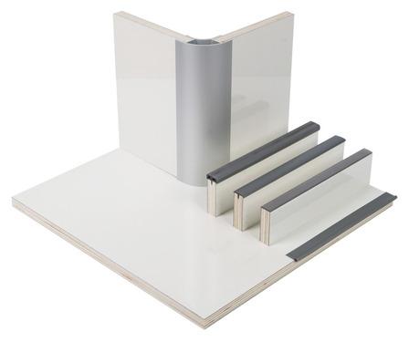 Möbelbauplatte Perlmutt glänzend Schichtstoff, HPL