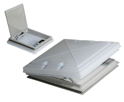 Dachhaube 400x400mm mit Milchglas und Moskitonetz