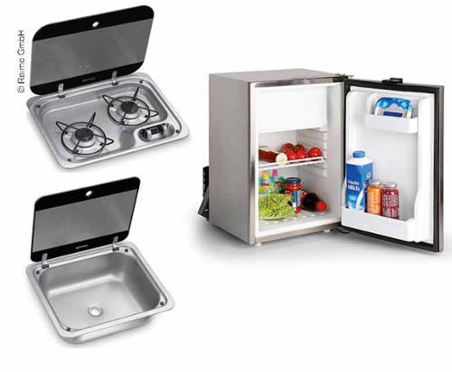 Kombi Campingbus-Set 40 E - ocak, lavabo ve ankastre buzdolabı