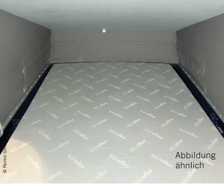 Schlafdachbett Easy Fit VW T6, T5 KR, vorne hoch, Hellgrau-Schichtstoff