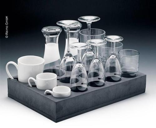 Universal glass+cup holder (13 glasses or cups)