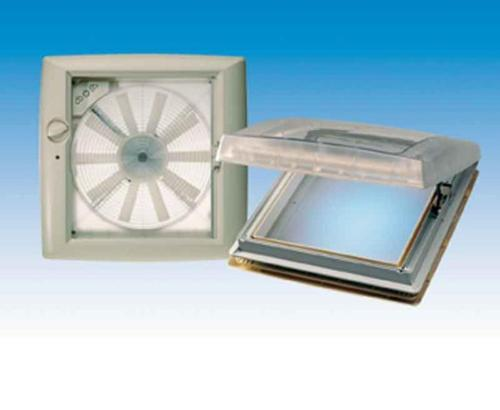 Rooflight Omni-Vent with 12 Volt fan 40x40 - transparent