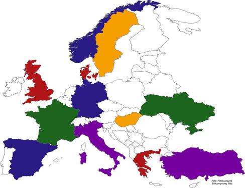 Europa klistermærke sæt europæisk kort at holde fast