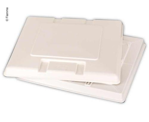 Udskiftning glas tag hætte hvid