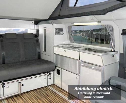 TrioStyle Möbelzeile als Fertigteil silber für Ford Transit Custom, KR
