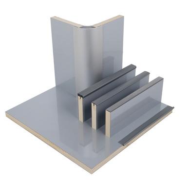 Möbelbauplatte Hochglanz Silber, HPL