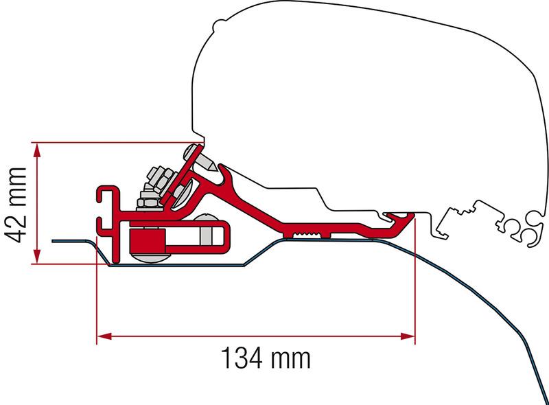 Adapter Fiamma Kit F65 / F85 Ducato 2006 LHD + RHD Low Profile Deep Black, lewy + prawostronny