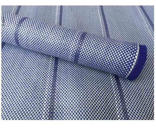 Zeltteppich Arisol in Blau 3x7m, inkl. Tasche, Clips + Heringe