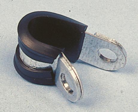 Collier de serrage pour tuyau de gaz en métal avec incrustation en caoutchouc 8m